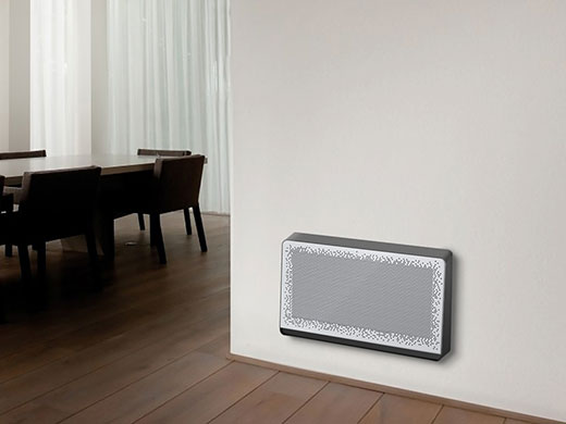 Connected fan coil Airlam for heating and cooling