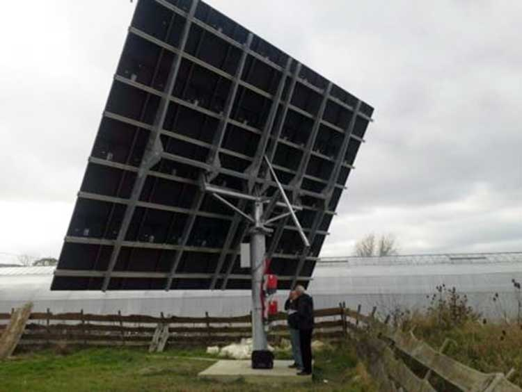 Solar tracker installed and setup by BE-SOL